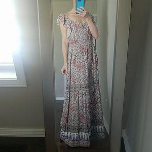 Chelsea and Violet Festive Flower Girl Maxi Dress